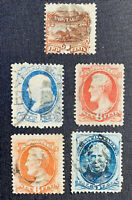 U.S. Used - Small Lot of 15  Good/Fine/Very Fine (See Photos)  1869-1928
