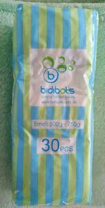Bidibots Premature Baby nappies small 500-750g premmie reborn doll 30 pack