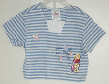 THE DISNEY STORE Size 2T Blue Winnie the Pooh Striped Short Sleeve Tops ~ Shirt