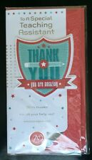 To A Special Teaching Assistant Thank You 3D Greeting Card End Of Term/year