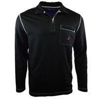 NAUTICA Men's Sweater Classic 1/2 Zip Lightweight Layer Black M L XL 2XL - NWT