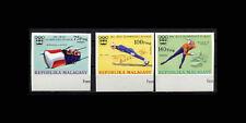 Malagasy, Sc #538-40, Imperf, MNH, 1975, Olympics Innsbruck, A5RID