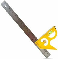 """Lufkin 300mm 12"""" Combination Square 2 Items Both"""