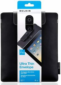 Belkin Leather Ultra Thin Envelope for iPad 2  9.7 - (Black) BRAND NEW!!!