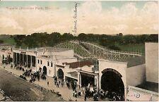 View in Dominion Park Montreal Canada Postcard Amusement Park
