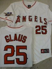 3520 Licensed MAJESTIC Angels TROY GLAUS 2002 WORLD SERIES Sewn Jersey