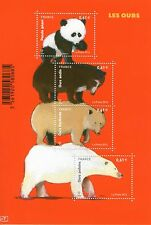 FEUILLET F4844 NEUF XX  LUXE - LES OURS : PANDA, ANDIN, BLANC POLAIRE, KERMODE