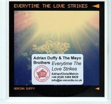 (EA240) Adrian Duffy & The Mayo Brothers, Everytime The Love Strikes  2012 DJ CD