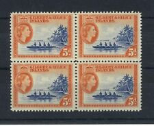 GILBERT & ELLICE IS 1956-62 DEFS SG69a BLOCK OF 4 MNH