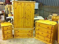 PINE FURNITURE ASHBOURNE 3 PIECE BEDROOM PACKAGE SOLID PINE NO FLAT PACKS!!!!
