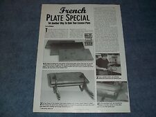 """How To Tech Article on Frenching a License Plate """"French Plate Special"""""""