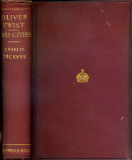 CHARLES DICKENS: Oliver Twist / A Tale of Two Cities (Chapman & Hall 1892) RAR!