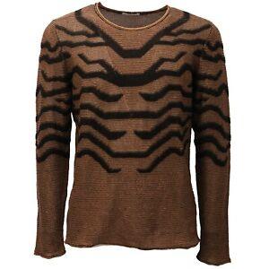 5051AD maglione uomo PAOLO PECORA brown/black cotton sweater man
