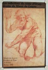 Affiche COLLECTIONS du COMTE d'ORSAY Dessins 1983 Exposition Musée Louvre