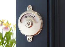 VACANT ENGAGED CHROME TOILET BATHROOM LOCK BOLT INDICATOR DOOR HANDLES KNOBS