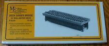 "Micro Engineering Company N #75153 /40' Ballasted Deck Girder Bridge -- 3"" Long"