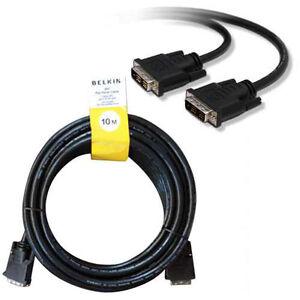 Belkin 10M DVI Cable DVI-D to DVI D Single Link DVI PC Monitor Lead 10 Metre