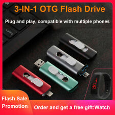 OTG 512GB USB Flash Drive Memory Stick IOS Pendrive uDisk for iPhone Android LOT