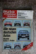 AMS Auto Motor Sport 19/78 * Ferrari 308 GTS VW Käfer Glas 1304 TS