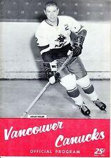 1962 (Oct.19) WHL Hockey Program, Los Angeles Blades @ Vancouver Canucks ~ Good