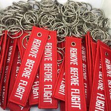 Remove Before Flight Gesticktes Keychain Gepäck Umbau Taschen Etikett Dekoration