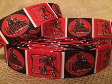 """1 yard 7/8"""" Rutgers University Grosgrain Ribbon"""