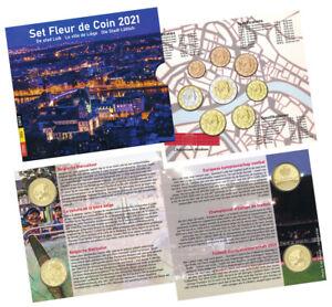 BELGIEN ORIGINAL-KMS 2021 STEMPELGLANZ (BU) NOMINALWERT 8,88 EURO