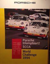 Porsche Triumph SCCA World Challenge 1994 Factory Car Poster Extremely Rare!