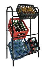 Kastenständer 6 Kisten - schwarz - Getränkekistenregal Kisten Ständer Bier Regal