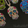 FUNKY MEXICAN SUGAR SKULL NECKLACE EVIL ZOMBIE DAY OF THE DEAD EMO GOTHIC KITSCH