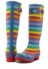 Evercreatures MUJER Botas Wellington Damas Niñas Alto Wellies vegana-Rainbow