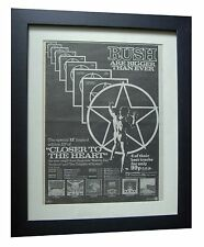 RUSH+Closer To Heart+TOUR+POSTER+AD+RARE ORIGINAL 1978+FRAMED+FAST+GLOBAL SHIP