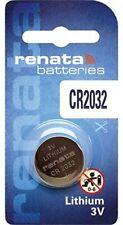 Renata CR2032 Lithium Watch Key Fob Gadget Battery 3v Swiss Made x 1 unit