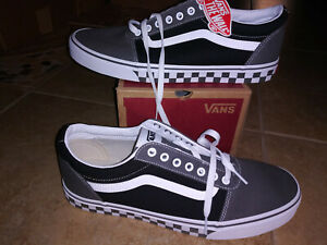 NEW $60 Mens Vans Ward Checker Tape Shoes, size 13