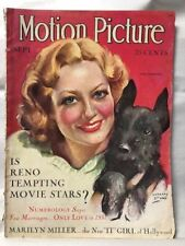 Motion Picture Magazine Sept 1931 Joan Crawford Movies Hollywood Entertainment