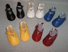 """5 Pair DOLL SHOES fit HORSMAN 26"""" RUTHIE TODDLER 5 Colors Maryjanes!"""