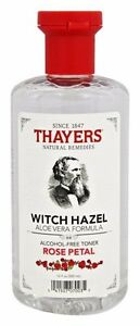 Thayers WITCH HAZEL w/ Aloe Vera Alcohol-Free Toner Skin Health 12 oz ROSE PETAL