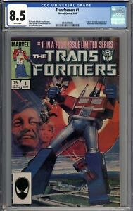 Transformers #1 CGC 8.5 VF+ Origin & 1st App of the Autobots and Decepticons WP
