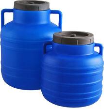 Barril plástico recipiente de almacenamiento de agua 30 L Barril Tambor Tanque de calidad alimentaria Tornillo abierto