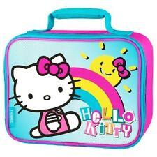 HELLO KITTY SANRIO Girls Thermos PVC & Lead-Free Lunch Tote Box Bag NWT