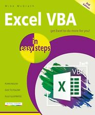Excel VBA in easy steps, 3rd edition - by Mike McGrath - FREE P&P