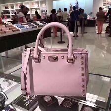 100% New and Original Michael Kors Kellen Studded Satchel Blossom Pink Small