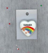 Rainbow & Hearts Fashion Pin Brooch Personalized TAMARA - Stocking Stuffer