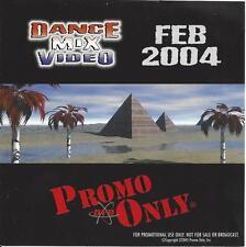 PROMO ONLY- New, DVD Dance Mix VIDEO Feb.-2004, Madonna,Justin Timberlake