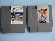 City Connection & The Goonies 2 II in VERY GOOD COND for NES Nintendo! TESTED