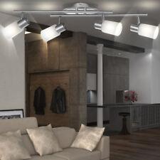 Decken Lampe Arbeits Zimmer Chrom Strahler Alabaster Glas Spot Leuchte beweglich