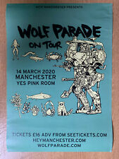 WOLF PARADE On Tour Manchester Yes Pink Room 14.3.20 Gig A3 Promotional Poster