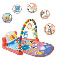 Baby Game Pad Music Pedal Piano Fitness Rack Crawling Mat W/ Hanging Toy Gifts