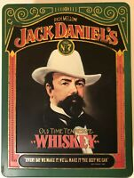 """Vintage Jack Daniels Old Time Tennessee Whiskey Tin Old No 7 Brand """"Rare"""""""