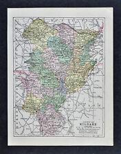 1900 Ireland Map - Kildare County - Athy Ballitore Kilcullen Kilcock Celbridge